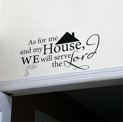 As for me and my house... Vinyl Wall Decor with Scripture
