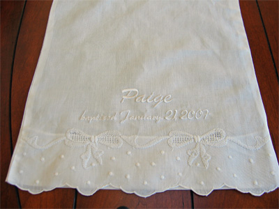 Personalized Baby Linen Pillowcase