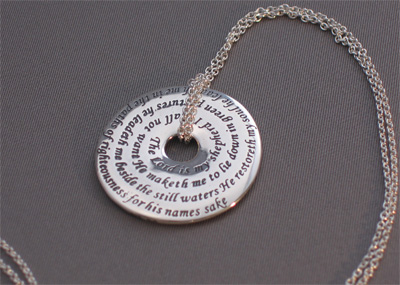 23 Psalm Sterling Touchstone Pendant