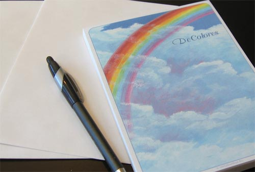DeColores Rainbow Stationery  Set