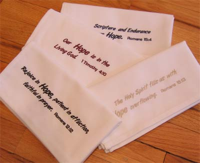 Easy Care 'Hope' Napkin Set