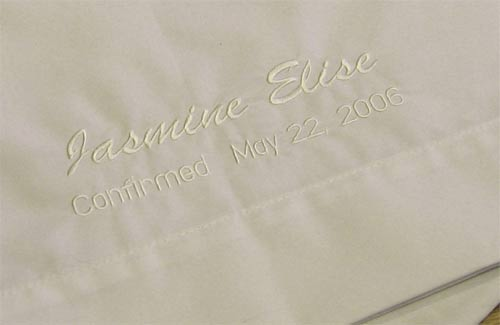 Personalized Confirmation Pillowcase