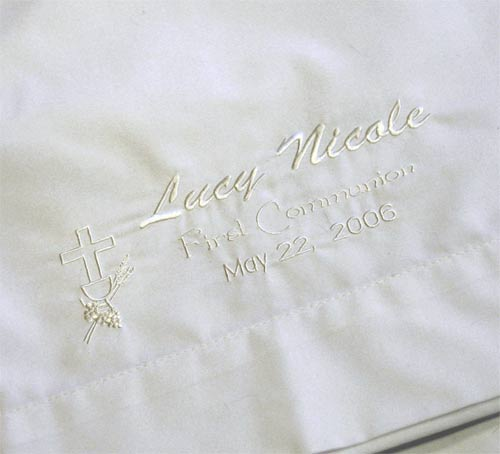 Personalized First Communion Pillowcase