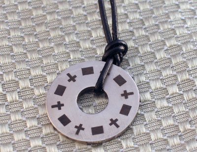 Washer with Crosses Necklace