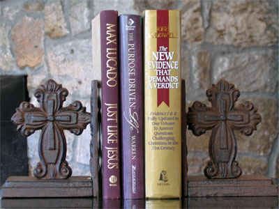 Cast Iron Cross Bookends