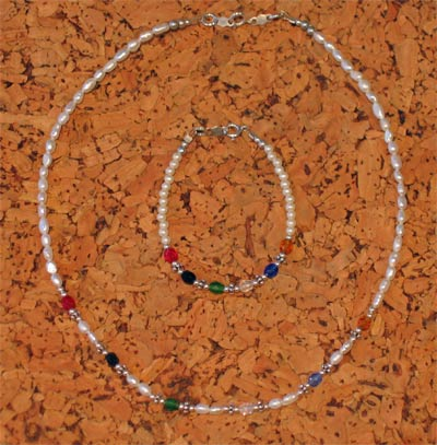Child Pearl Sterling Silver Salvation Necklace