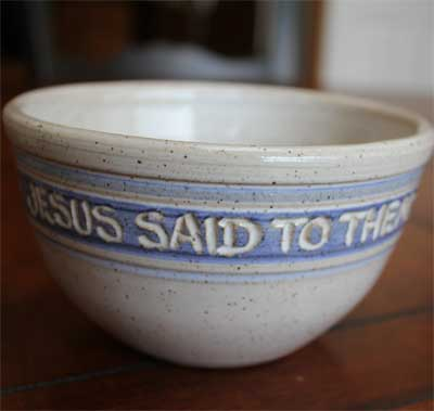Scripture Pottery Cereal / Ice Cream Bowl...