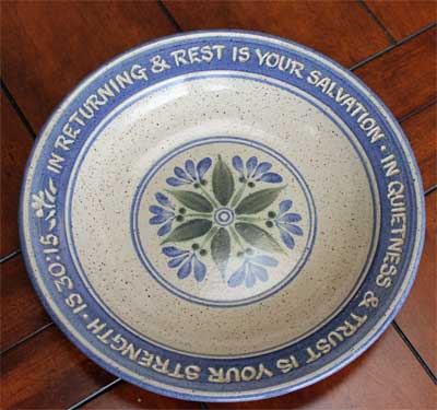 Scripture Pottery Soup/Salad/Pasta Bowl...