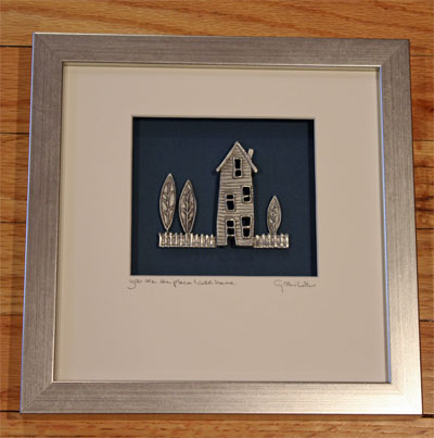 Cynthia Webb Framed Pewter Ornament - The Place I Call Home
