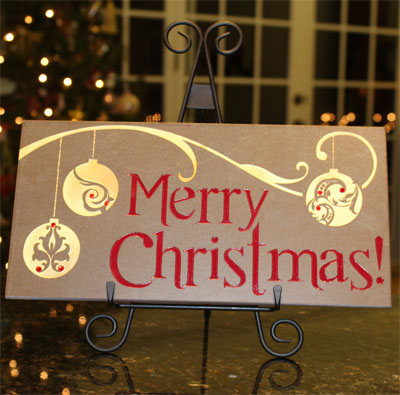 Merry Christmas – MasterStone w/Iron Easel