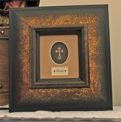 Framed Adorned Cross – Family