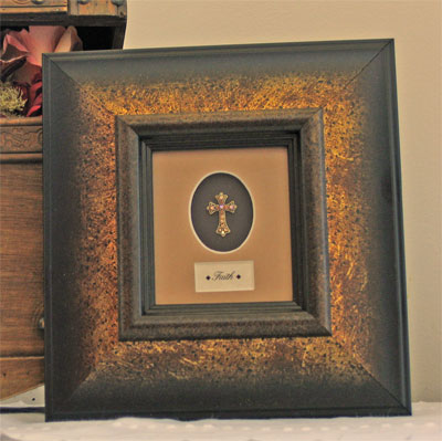 Framed Adorned Cross – Faith