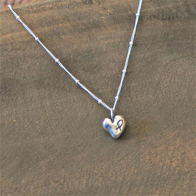Love Set in Stone Heart Necklace