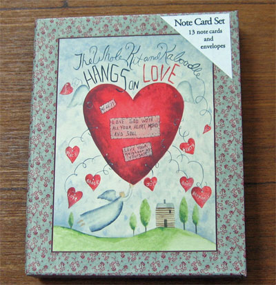The Whole Kit and Kaboodle Hangs on Love Note Card Set