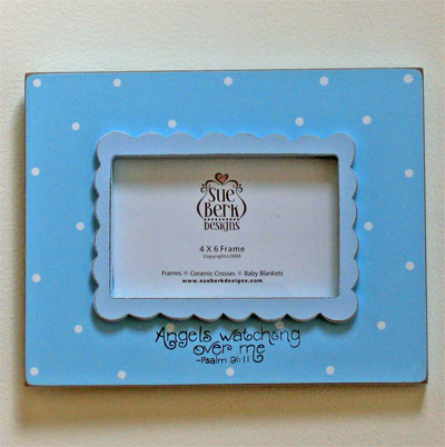 Angels are watching... Blue Photo Frame