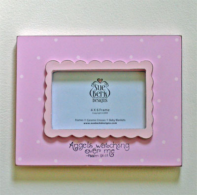 Angels are watching… Pink Photo Frame