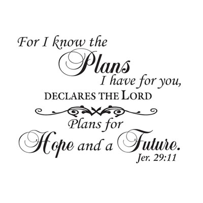 I know the plans... Vinyl Wall Decor with Scripture