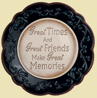 Great Friendship Plate