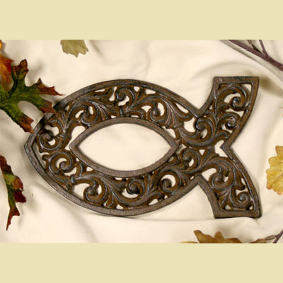 Cast Iron Fish Trivet