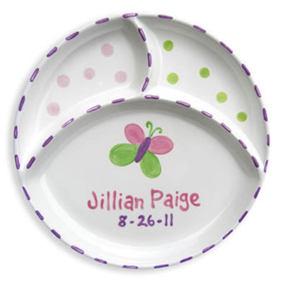 Personalized Butterfly Baby Birth Plate
