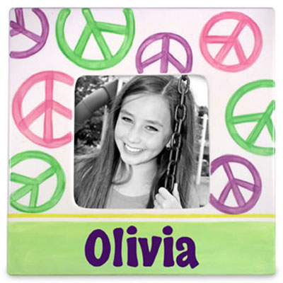 Peace Sign Personalized Photo Frame