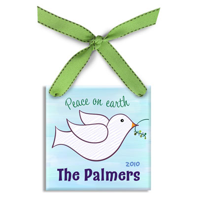 Personalized Christmas Ornament – Dove