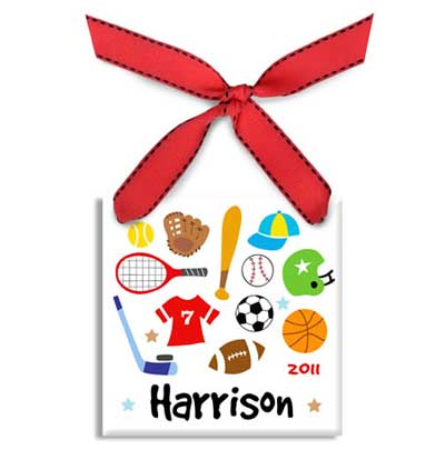 Personalized Sports Christmas Ornament