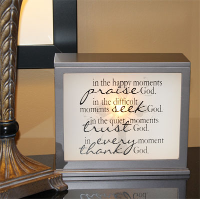 Inspirational Accent Lamp & Light Box (CHOCOLATE)