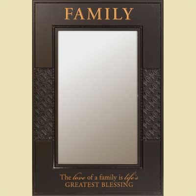 Family... Black Wall Mirror