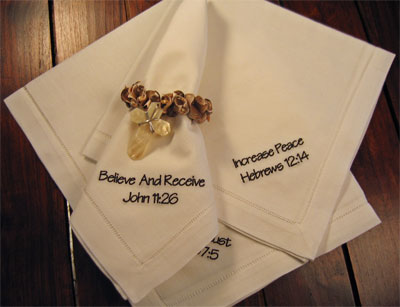 'Increase Peace' Series Dinner Napkins - Set of Four
