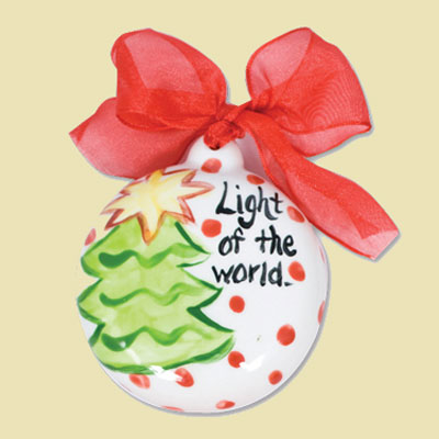 Light of the World Ceramic Handpainted Ornament