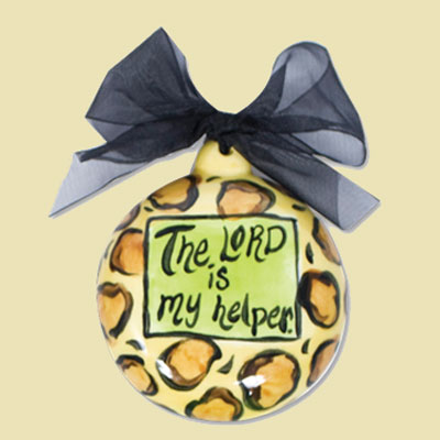 The Lord is My Helper Ceramic Handpainted Ornament