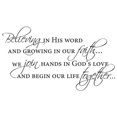 Believing in His Word… Vinyl Wall Decor