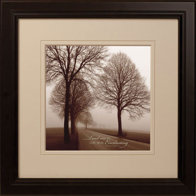Silhouettes in Sepia II – Psalm 139:24 – Framed Wall Hanging