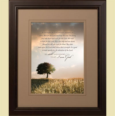 Solitary Oak Tree Framed Wall Hanging