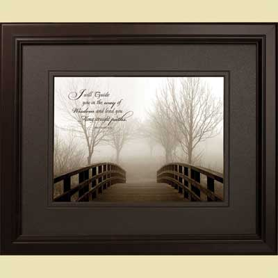 'Footbridge' Framed Art – Proverbs 4:11