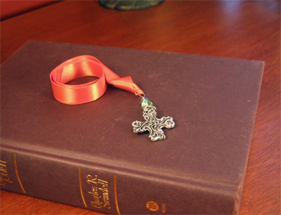Pewter 'Spirit Cross' Bookmark by Cynthia Webb