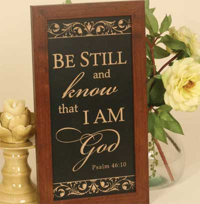 Psalm 46:10 – Distressed Wooden Sign
