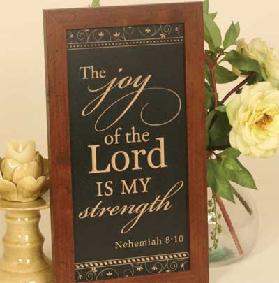 Nehemiah 8:10 - Distressed Wooden Sign