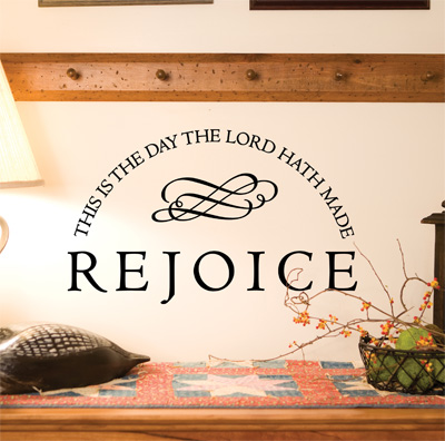 Rejoice… Vinyl Wall Decor with Scripture