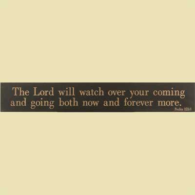 The Lord will Watch... Black Wooden Plaque