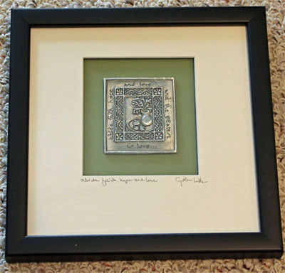 Cynthia Webb Framed Pewter Ornament - Abide Faith