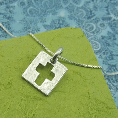 Be Amazed by Grace Cross Sterling Necklace