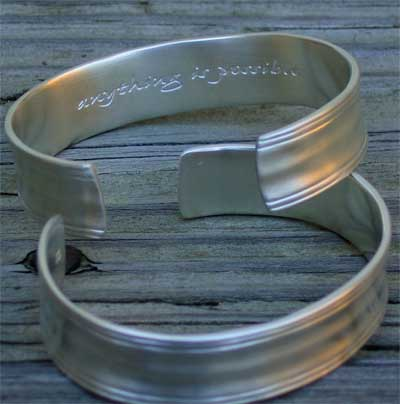 Anything is Possible Sterling Silver Cuff