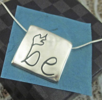 Be Spirit Filled Sterling Necklace