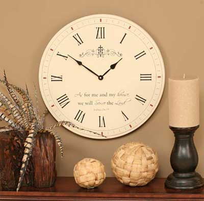 """As For Me and My House 17″"""" Wall Clock"""