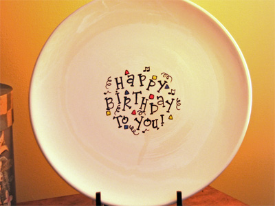 Happy Birthday Signature Platter & Pen