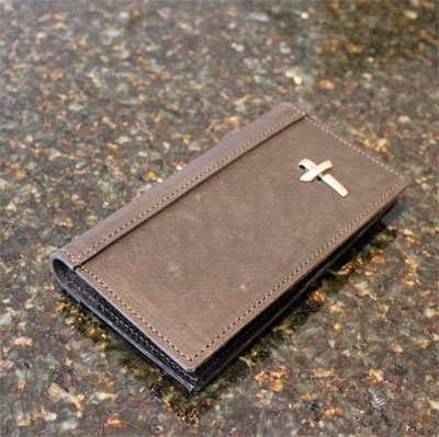 Journeyman Checkbook Cover with Cross