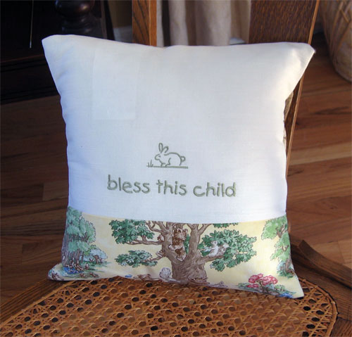 Bless This Child Pillow