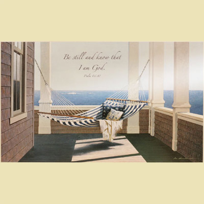 Striped Hammock – Psalm 46:10